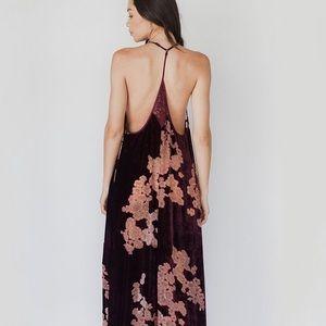 Parker Velvet Floral Maxi